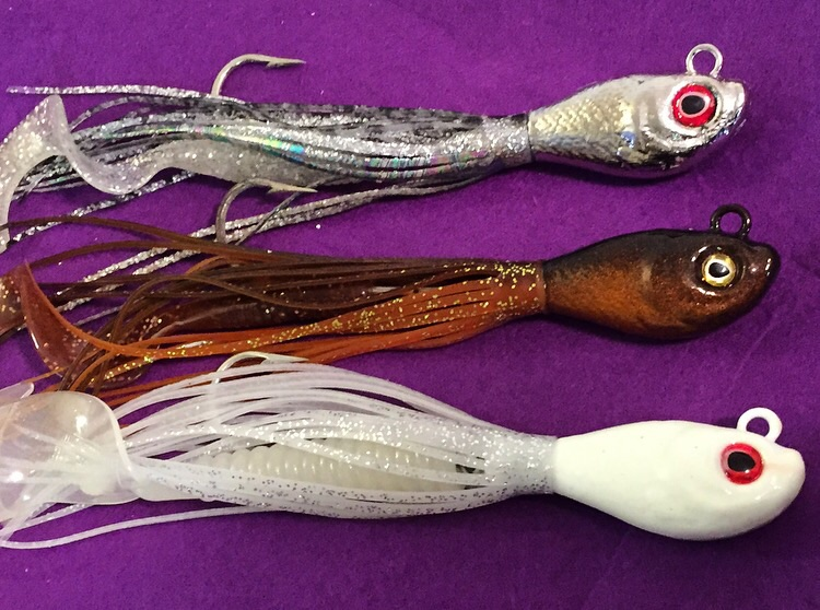 New LingKiller jigs now come in 3 colors original copperKiller, Glow white, and chrome! Buy one or save with a 3 pack!