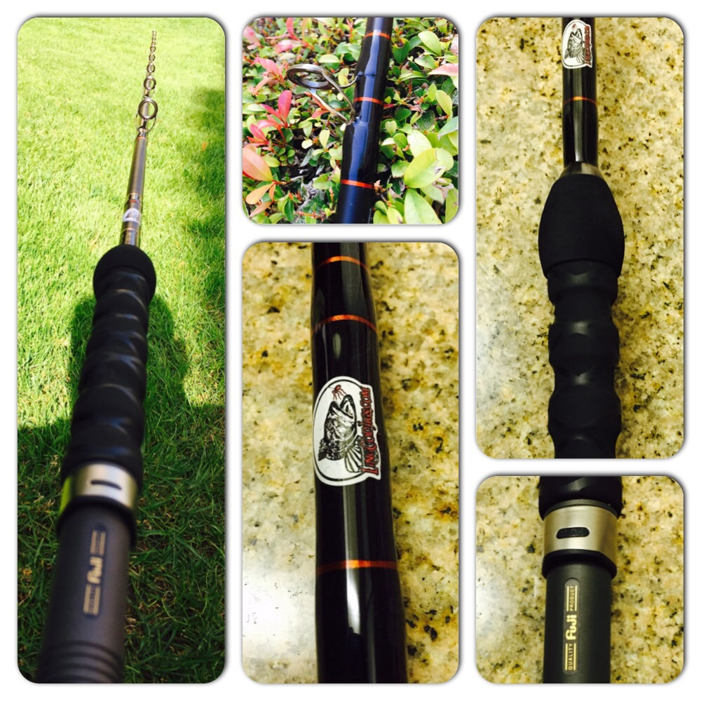 New lingcod jigging rods are made of high quality graphite.